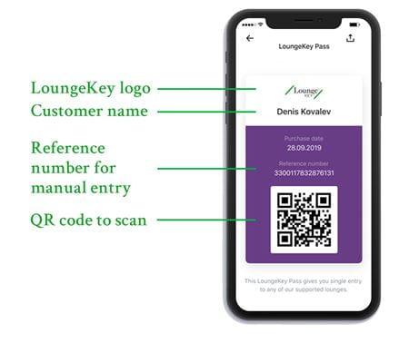 Single-use lounge access via LoungeKey Pass